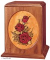 Rose bouquet urn