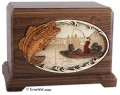 Boat Fishing Urn for Ashes