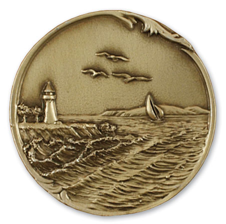 Lighthouse Urn Medallion
