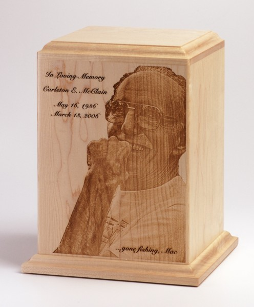 Photo Engraved Cremation Urn