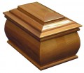 Tribute Wood Cremation Urn | Mahogany Funeral Urn