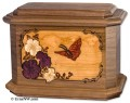 Butterfly Urn for Ashes in Walnut