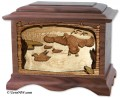 Marshland Melody - Ducks cremation urn