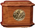 Diplomat Cremation Urn w/ Medallion