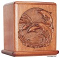 Dolphin Mahogany Urn for Ashes