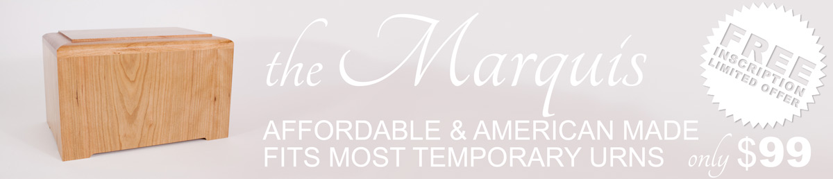 Marquis Cremation Urn - Sale with Free Engraving