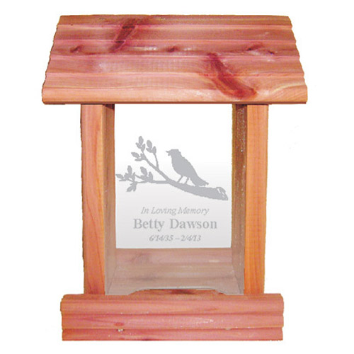 Memorial Tribute: Personalized Bird Feeder with Inscription