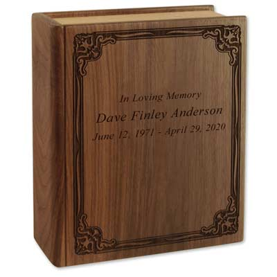 Personalized Book Urn