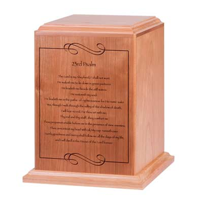 Psalm 23 Cremation Urn for Ashes