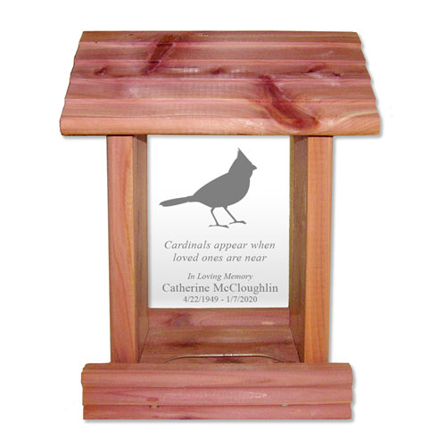 Cardinal Quote Bird Feeder Sympathy Gift