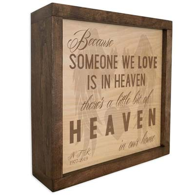 Memorial Plaque Cremation Urns
